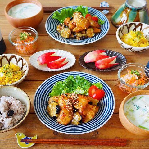絶品♪鶏むね肉となすのマヨポン炒めレシピ