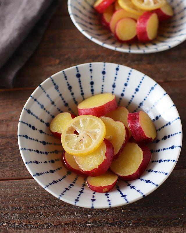 箸休めに。さつまいものハニーレモン煮レシピ