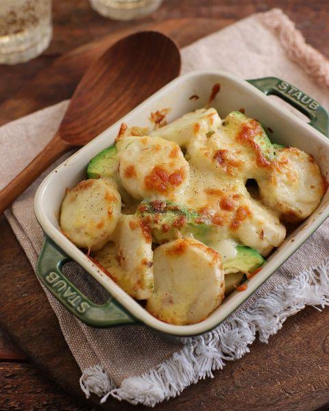 人気!ほっくり長芋とアボカドのチーズ焼き