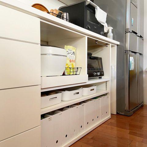 無印のキッチン背面収納14