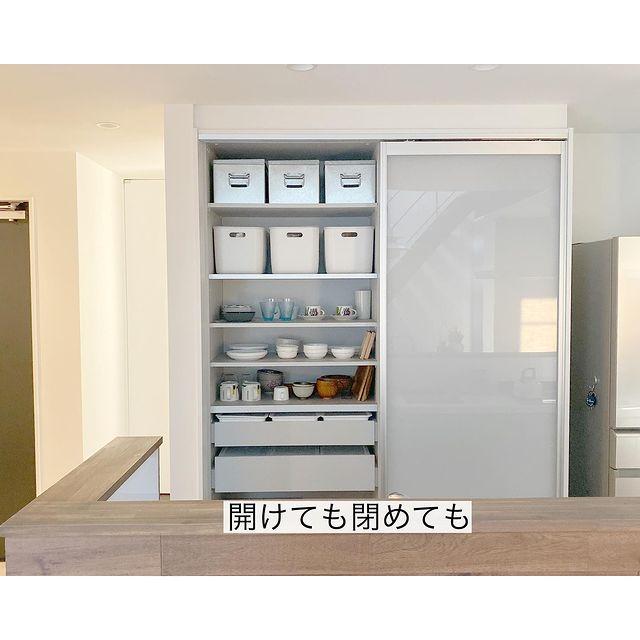 無印のキッチン背面収納12