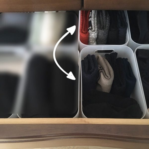 積み重ねボックスで簡単衣替えになるアイデア