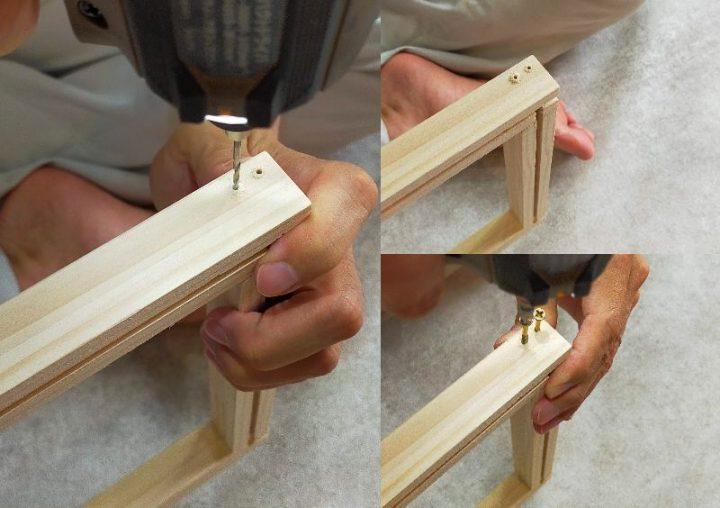 木枠を組む4