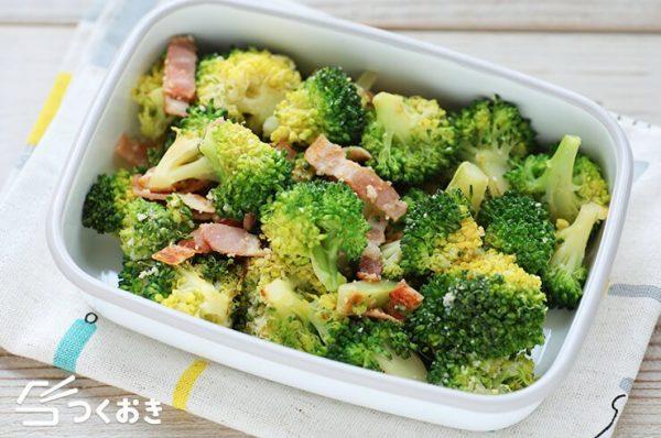 簡単野菜レシピ!ブロッコリーベーコンチーズ