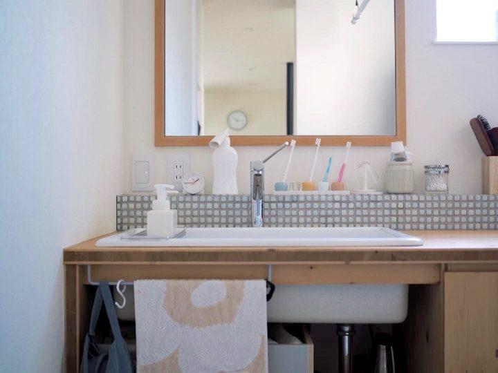 こだわりのある大きな造作洗面台
