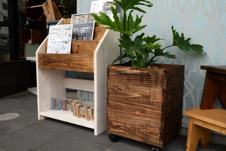 キャスター付き・杉板で簡単PLANTS鉢カバーを作ろう!2