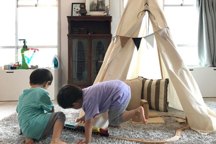 子供も喜ぶ室内テント!木と布でティピーを作ろう3
