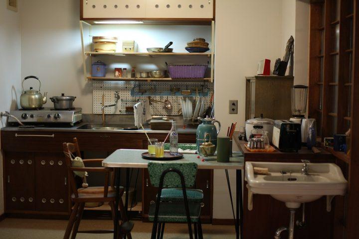 昭和感が新鮮な可愛いレトロポップキッチン