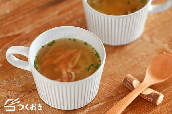 レンジで簡単♪玉ねぎコンソメスープレシピ