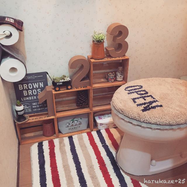 おしゃれな棚のトイレ収納DIY術