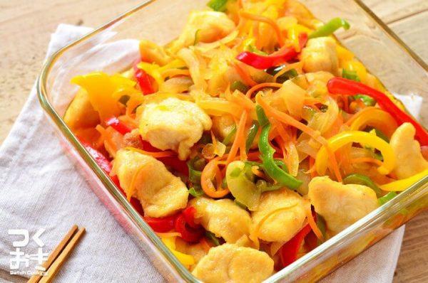 野菜たっぷりな作り置き!ささみ南蛮レシピ