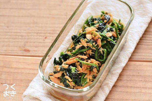 魚介の旨み♡ほうれん草とツナの炒め物レシピ