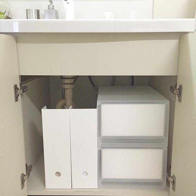 無印の洗面台下収納3