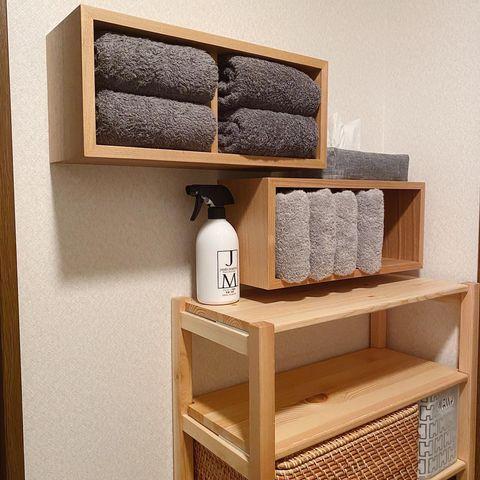使い勝手が抜群、無印良品の壁に付けられる家具 箱2