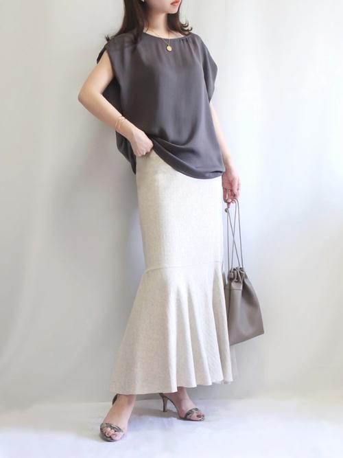 [URBAN RESEARCH ROSSO WOMEN] F by ROSSO リネン混マーメイドスカート
