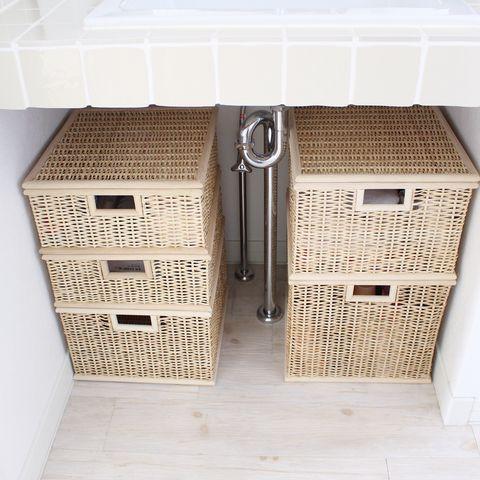 無印の洗面台下収納14