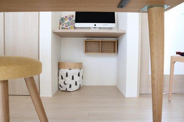 「壁に付けられる家具 箱」を使ったインテリア実例6
