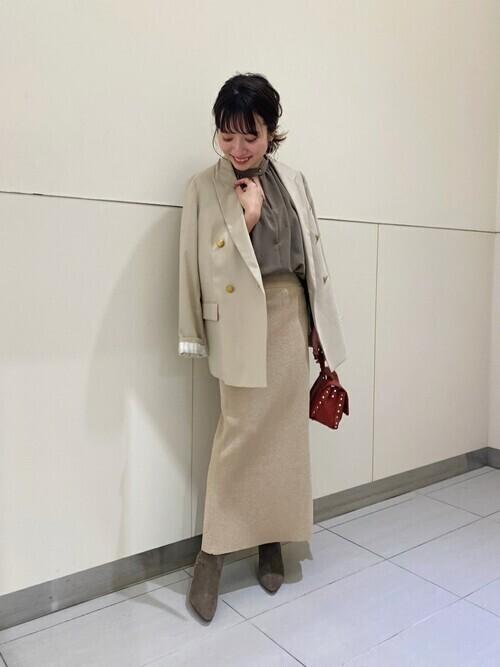 秋の顔タイプ・クールカジュアル向けコーデ11