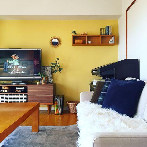「壁に付けられる家具 箱」を使ったインテリア実例2