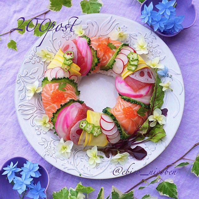 おもてなしに人気のお寿司リースケーキ