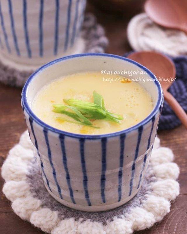 七五三の献立にコーンの茶碗蒸しレシピ