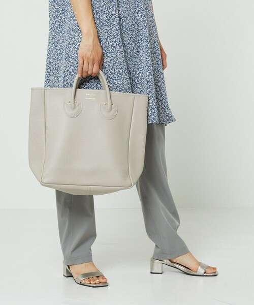 [FREAK'S STORE] YOUNG & OLSEN The DRYGOODS STORE/ヤングアンドオルセンザドライグッズストア EMBOSSED LEATHER TOTE M/エンボスレザートートバッグ
