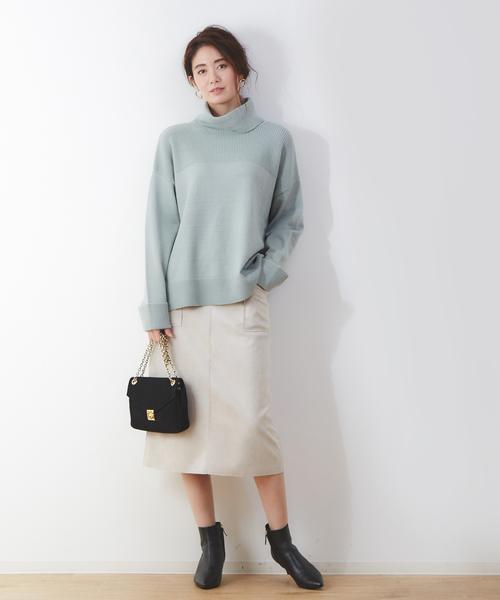 [Abahouse Devinette] ecru フェイクスエードタイトスカート