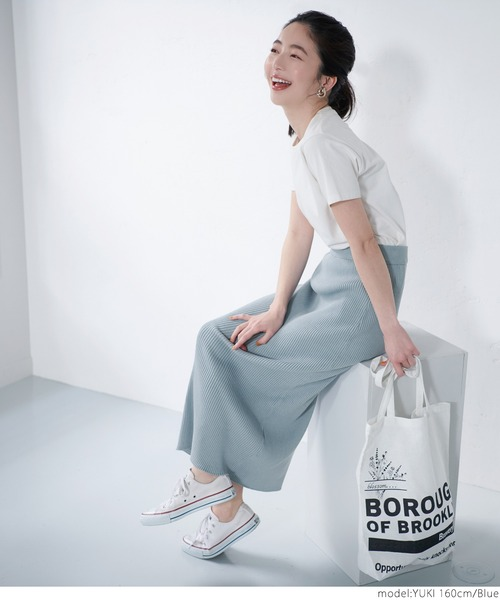 【coca】シャリ感ニットリブスカート