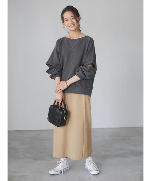[CRAFT STANDARD BOUTIQUE] バックスリットリブタイトスカート *◇