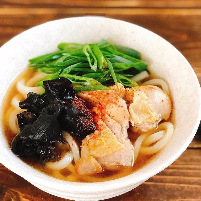 食感◎鶏肉ときくらげのあっさりうどんレシピ