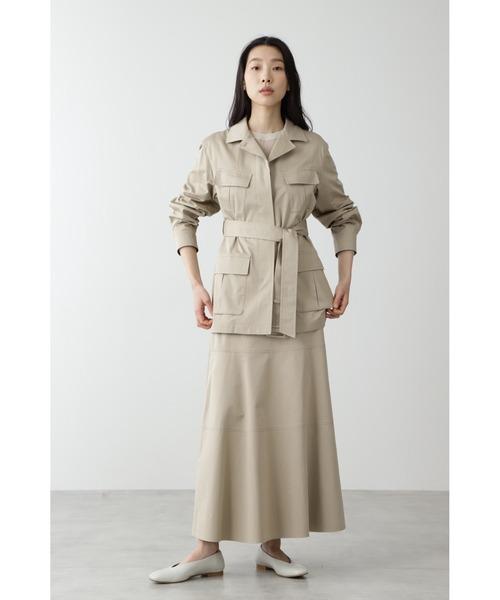 綿麻スラブサテンジャケット