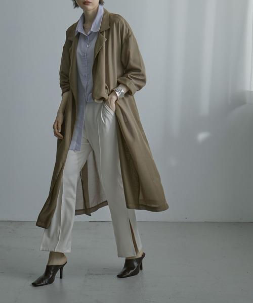 [Fashion Letter] シアーロングガウンコート 21SS