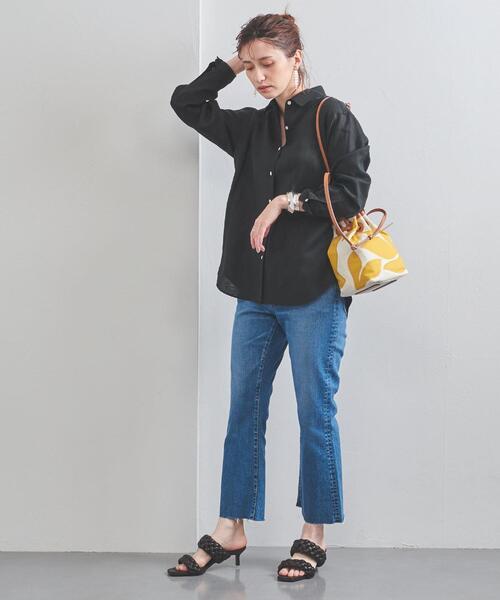 [UNITED ARROWS] UBC リネン シャンブレー レギュラーカラーシャツ 21SS
