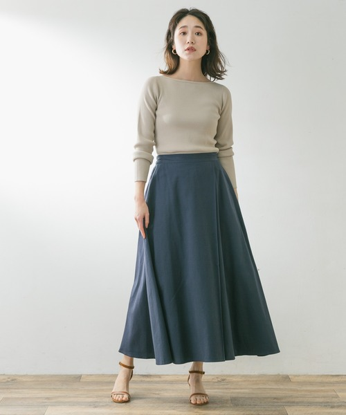 [URBAN RESEARCH ROSSO WOMEN] F by ROSSO ラップ風ロングスカート6