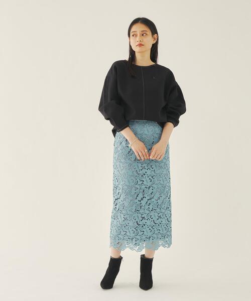 [green label relaxing] EMMEL REFINES(エメル リファインズ) ケミカルレース Iライン スカート