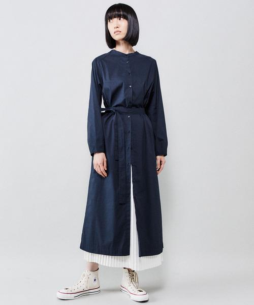 [CONVERSE TOKYO] スタンドカラー2WAYワンピース