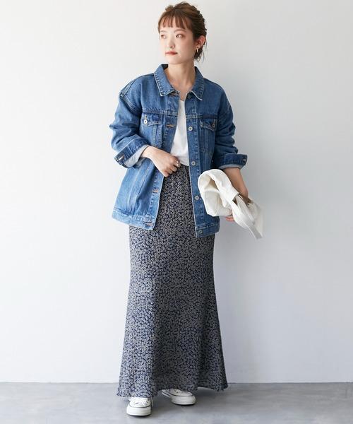[IENA] Deveauxダリアプリントマーメイドスカート【手洗い可能/ウエストゴム】◆6