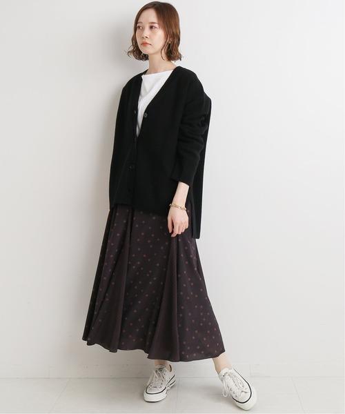 [IENA] ドットパネルフレアスカート◆4