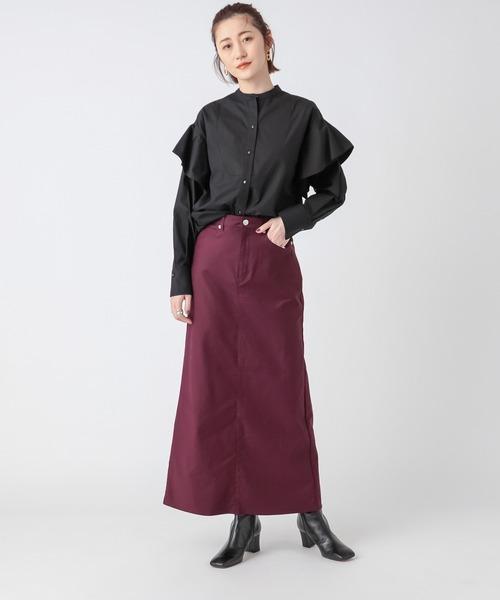 [RIVE DROITE] 纏うだけで最旬スタイルに導いてくれる【WEB限定】フリルスリーブコットンシャツ18
