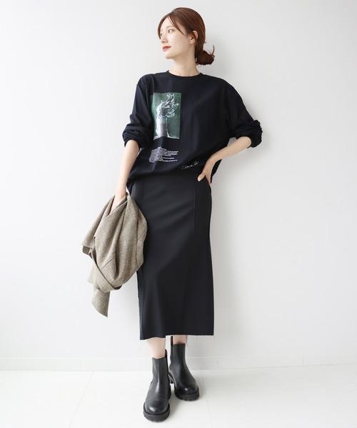 [Plage] *【JANE SMITH/ジェーンスミス】SP ART PRINT L/SL Tシャツ◆2