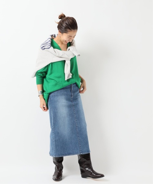 [Spick & Span] デニムタイトスカート◆8