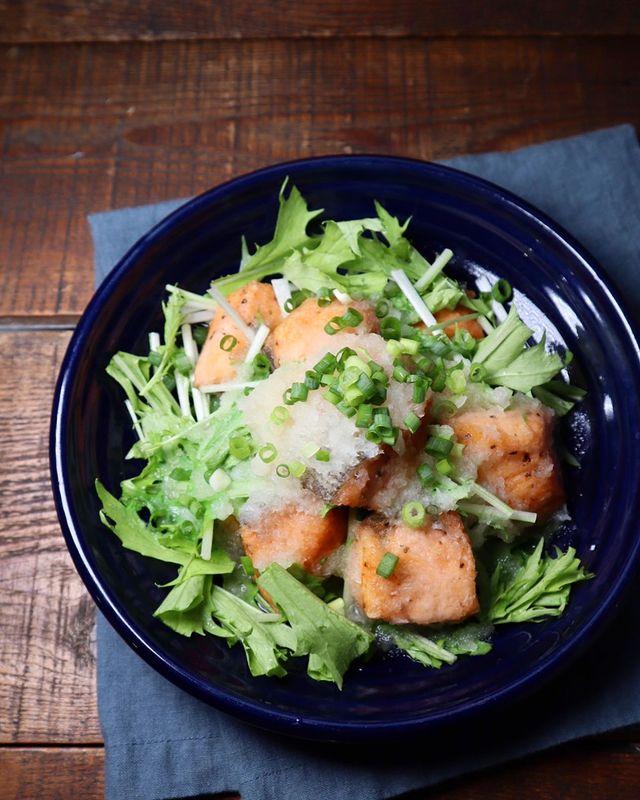 食感まで美味しい。鮭のみぞれかけレシピ
