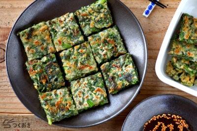 カルシウム充足の小松菜としらすの人気チヂミ