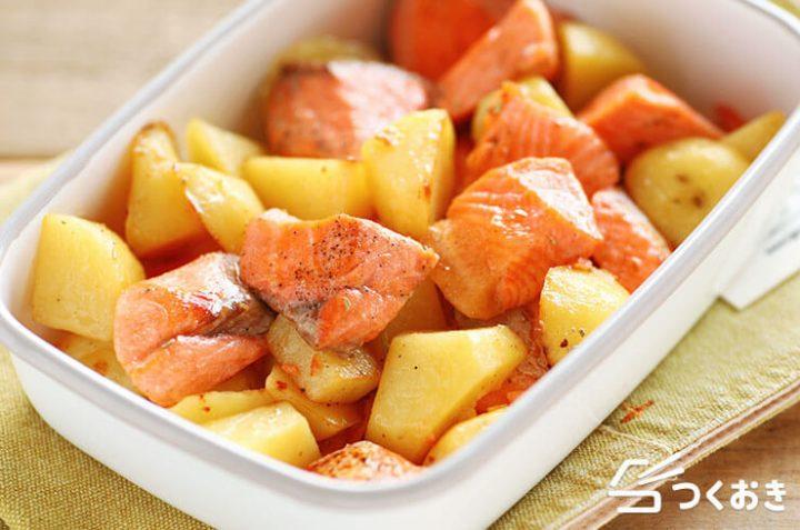 15分で簡単おつまみ。鮭じゃがバターレシピ
