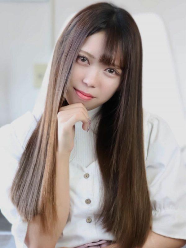 韓国風ロングヘア×ストレート