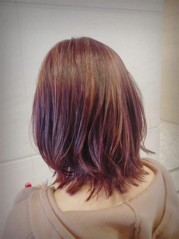 温かみのあるツヤ髪♡レッドカラー