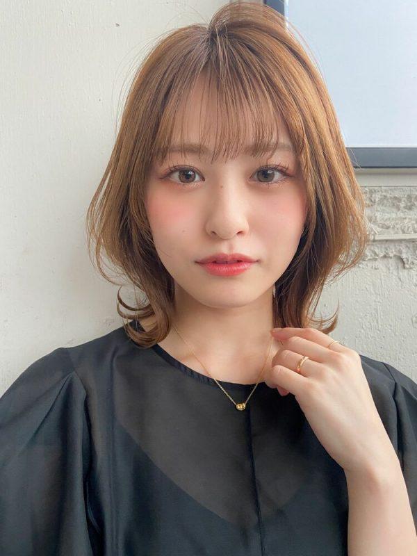レイヤーボブ×前髪ぱっつん