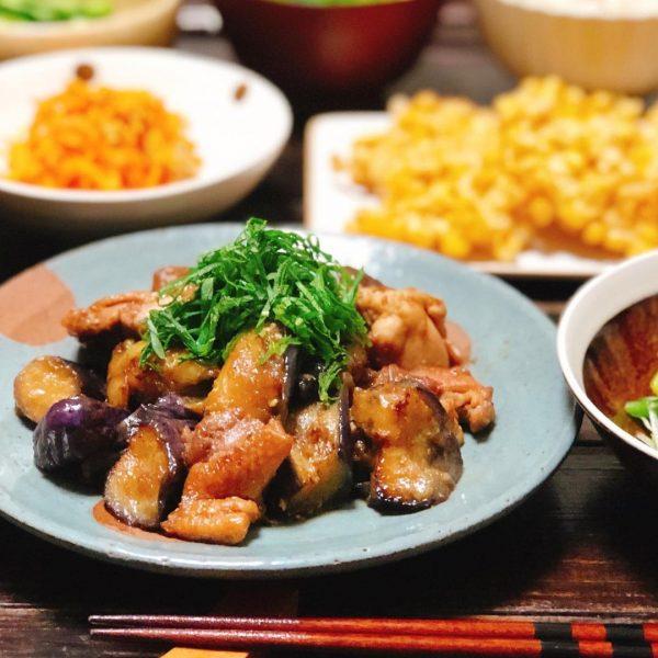 美味しい!鶏肉となすの生姜焼き