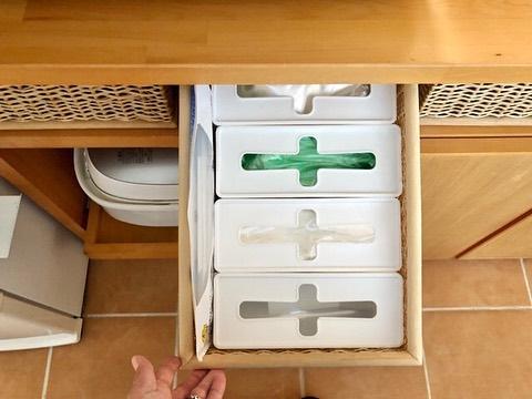 人気のプルアウトボックスを使った簡単整理収納