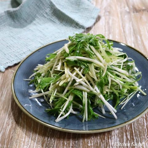 下仁田ねぎと水菜の美味しいピリ辛サラダ